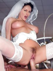 Horny brides decide to have a last adventure