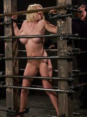 Krissy Lynn<br> Big titted,blond,trapped in the big squeeze.