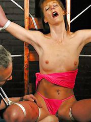 Maria suffers a hard cropping and electrical torture before being rewarded