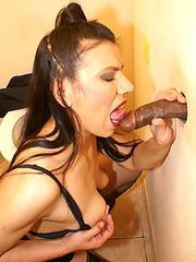 Mature glory hole porn
